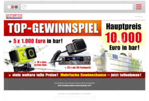 Landingpage ETM Verlag Gewinnspiel