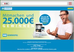 Verlags-Gewinnspiele Westdeutsche Zeitung