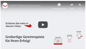 Erfolgreiches Gewinnspiel von HAPPY Marketing Solutions Video