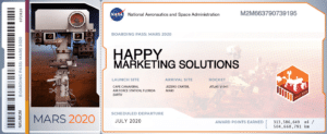 HAPPY Boarding Pass to Mars
