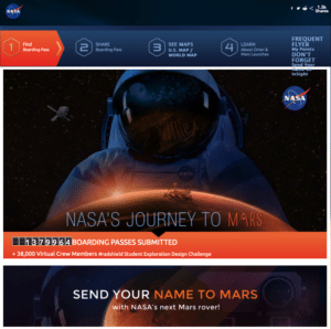 Sent your name to mars
