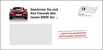 Autohaus-Gewinnspiel Mailing von HAPPY Versandkuvert