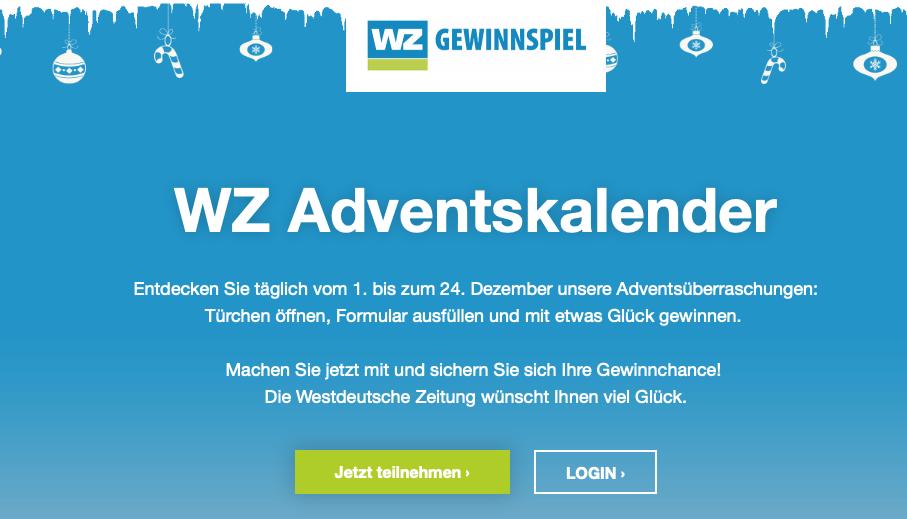 WZ Adventskalender Westdeutsche Zeitung